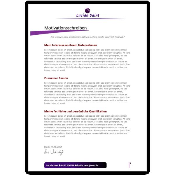 Bewerbungsvorlage Verkäuferin | Bewerbungsdesigns online