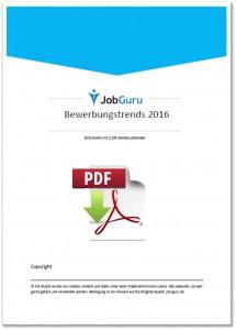 JobGuru Studie über Bewerbungstrends 2016