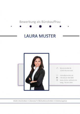 Bürokauffrau Bewerbungsdeckblatt