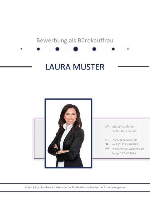 Layout für die Bewerbung als Bürokauffrau | JobGuru