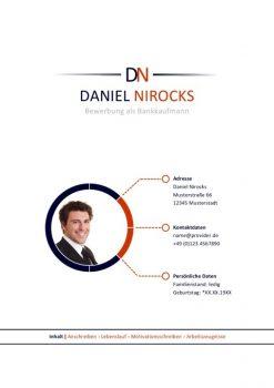 Bankkaufmann Bewerbungsdeckblatt Muster