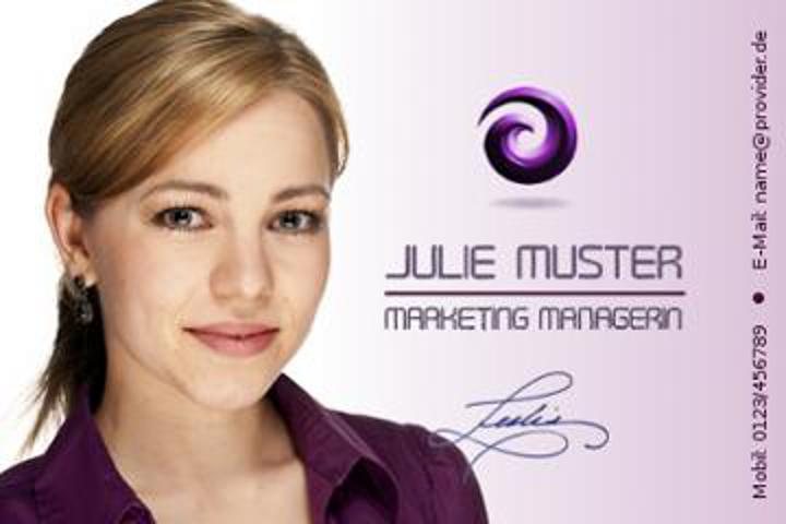 Bewerbungsdeckblatt Aufbau mit Jobtitel, Bewerbungsfoto, Name, Kontaktdaten und Anlagen