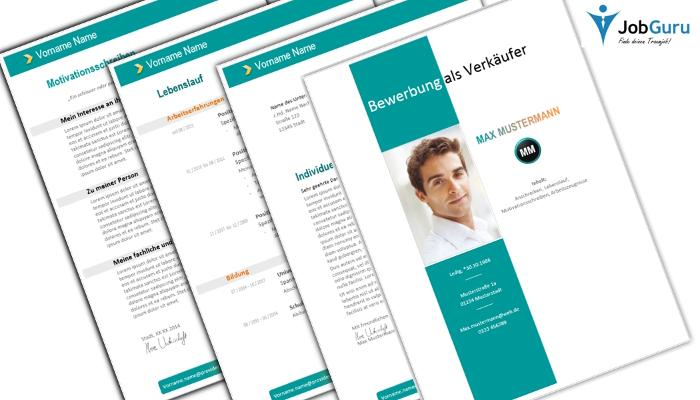 Bewerbung mit Design inkl. Anschreiben, Lebenslauf und Motivationsschreiben
