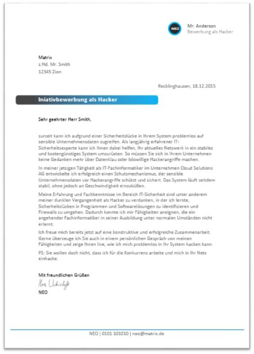 Bewerbungsanschreiben 2017: Muster, Aufbau & Formulierungen | Jobguru