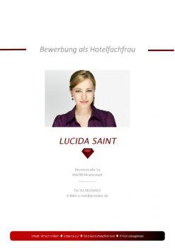 Hotelfachfrau Bewerbungsdeckblatt