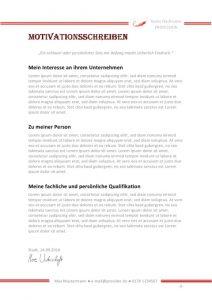 Koch Motivationsschreiben