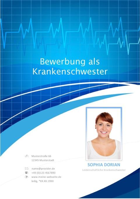 Krankenschwester Bewerbungsdeckblatt