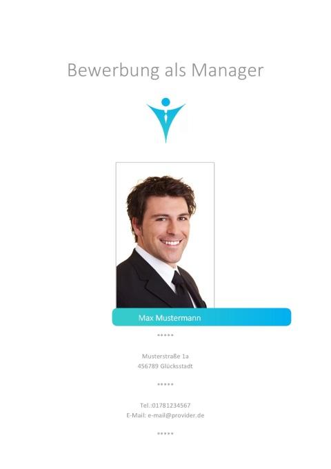 Manager Bewerbungsdeckblatt