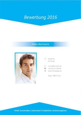 Marketing Bewerbungsdeckblatt