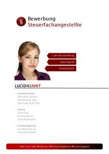 Steuerfachangestellte Bewerbungsdeckblatt