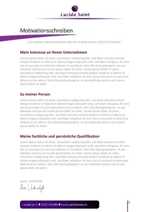 Layout für die Bewerbung als Verkäuferin | JobGuru